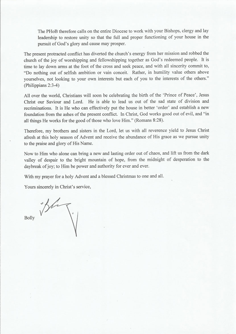 The advent letter from archbishop the truth the diocese of sabahs website published the same letter too lets see how long it will stay on the website the previous letter from the archbishop was kristyandbryce Gallery