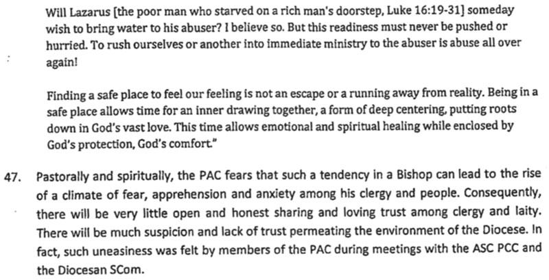 PAC's investigation in Bishop Albert Vun's abusive behaviour.