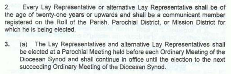 Article XXIII of the Diocesan Constitution.